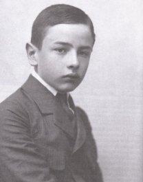 Witold Gombrowicz jako uczeń, ok. 1918 r.