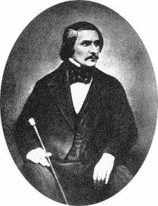 Fotografia Gogola wykonana przez S.L. Levitsky'ego (1845)