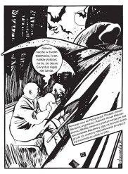 """Kadr z komiksu """"Mistrz i Małgorzata"""" wydanego w Polsce przez Timof i cisi wspólnicy (2011, oryg. 2005)"""
