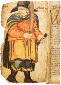 Egil Skallagrimsson na XVII-wiecznym manuskrypcie