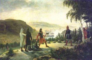 Egil w sporze z Bergiem-Önundrem (obraz Johannesa Flintoe z końca XVIII w.)